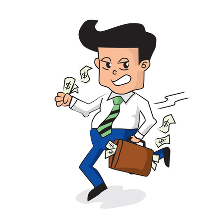 Businessman Holding A Fully Money Briefcase   Stock Vector - 25529771