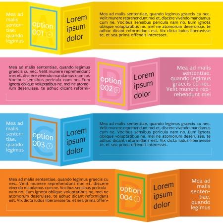 papier banner: Einfach und sauber Folding Papier Banner Vektor Illustration