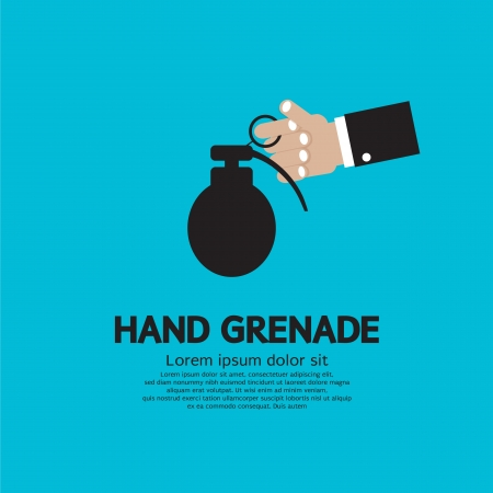 Hand Holding A Grenade Stock Vector - 25529784