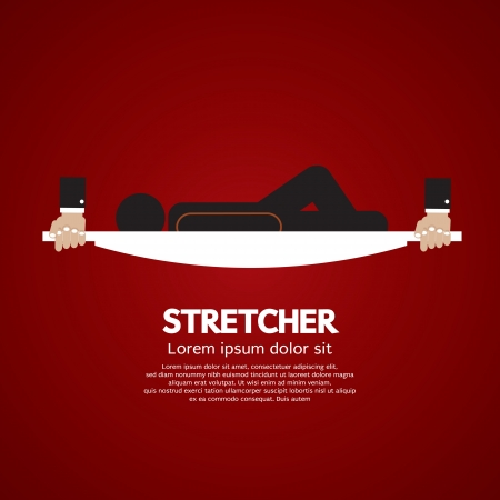 Patient Lay Down On Stretcher Stock Vector - 25529743
