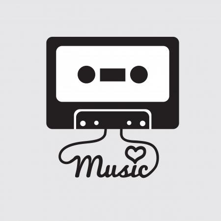 Tape Cassette Vector Illustration