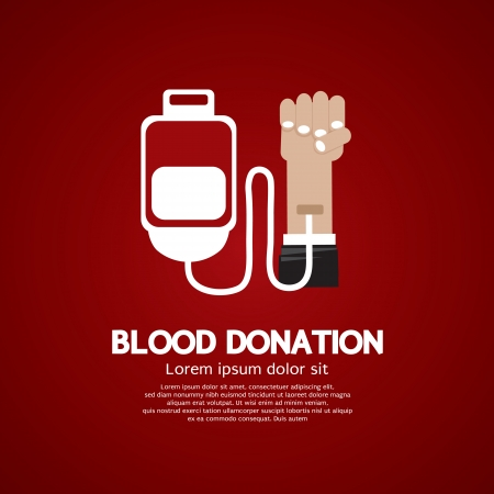 Blood Donation Stock Vector - 25529747