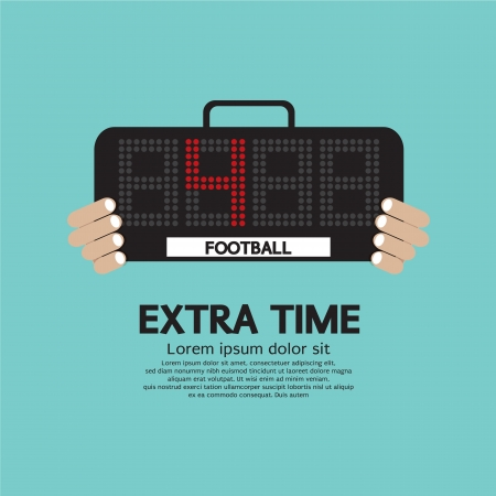 Extra Time Vector Illustration Vector