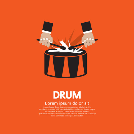 Drum And Drummer  Vector