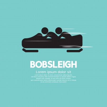Bobsleigh Vector Illustration  Vector