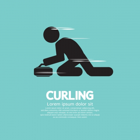 curling: Curling Vector Illustration
