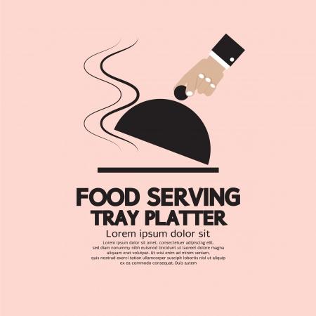 Food Serving Tray Platter  Vector