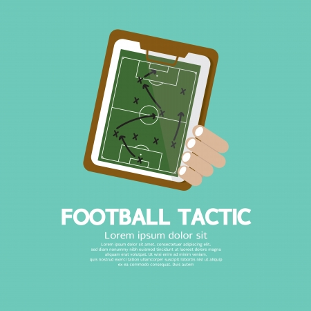 score table: Football Tactic Vector Illustration