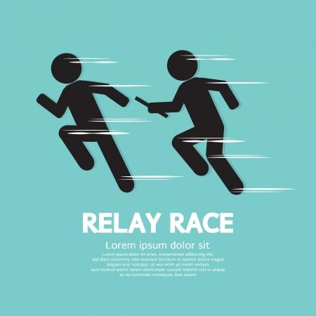 carrera de relevos: Ilustración vectorial Race Relay Vectores