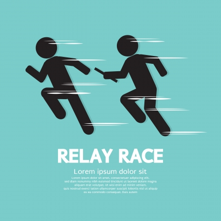 Relay Race Vector Illustration  Vector