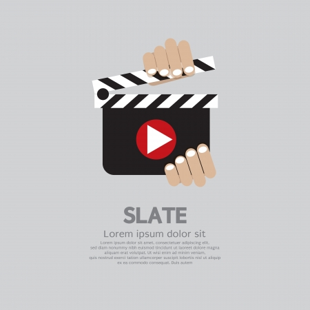 Hand Holding A Slate  Vector
