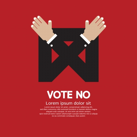 unapproved: Vote No Vector Illustration