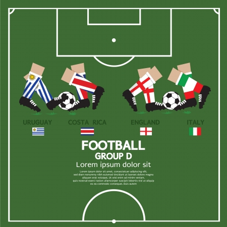 Group D Of 2014 Football  Soccer  Tournament  Vector