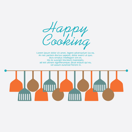 Happy Cooking Concept Illustration