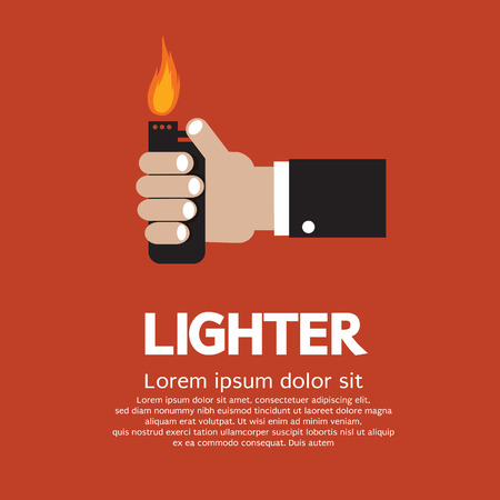 Hand Holding A Lighter Stock Vector - 26451497