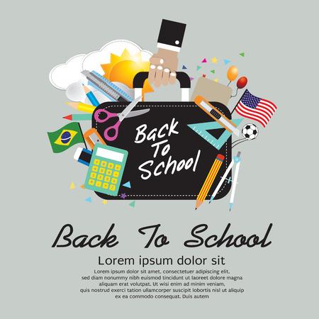 school bag: Back To School Concept