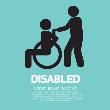 wheelchair access: Disabled Vector Illustration Illustration