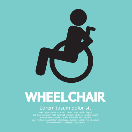 disabled parking sign: Wheelchair Vector Illustration Illustration