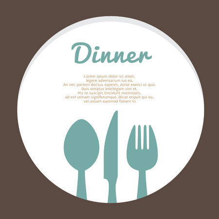 dinning table: Food Concept Vector Template