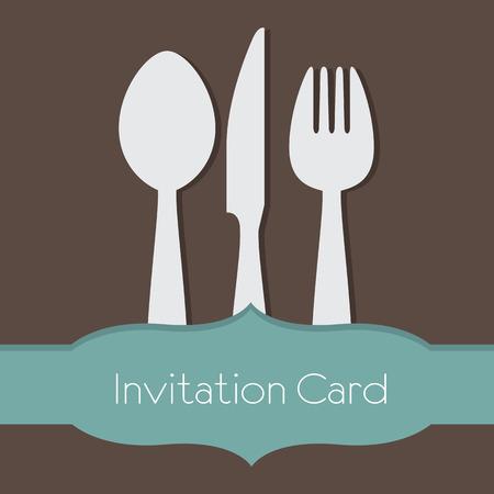 Food Concept Invitation Card Illustration