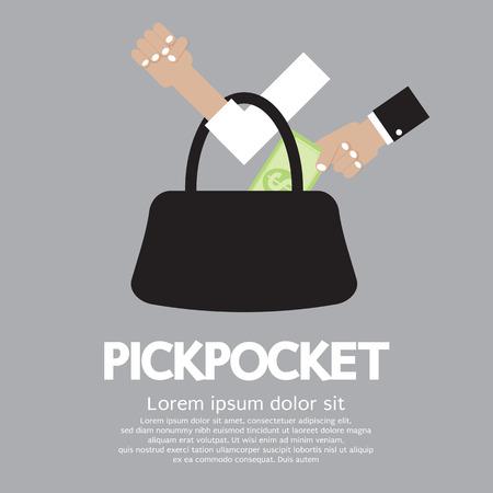 bolsa dinero: Ilustración Pickpocket
