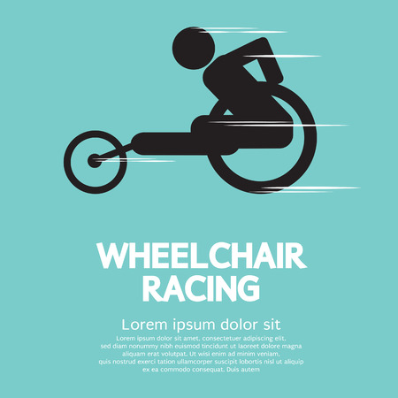 male athlete: Wheelchair Racing Illustration Illustration