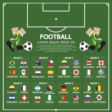 tournament chart: 2014 Football Tournament Chart Illustration