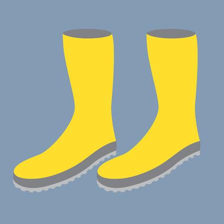 calzado de seguridad: Botas de goma de color amarillo