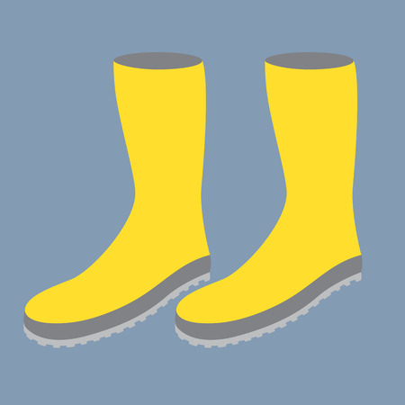 gumboots: Yellow Gum Boots  Illustration