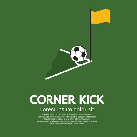 Corner Kick Vector Illustration Vector