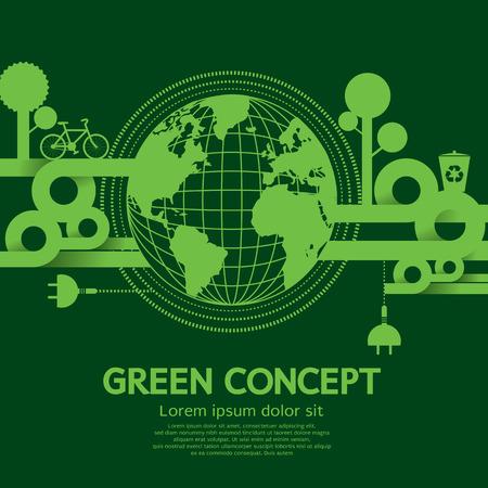 go green: Green Concept Illustration