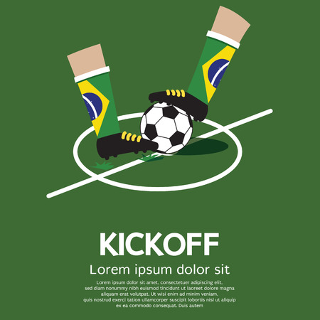 Kick Off Vector Illustration Vector