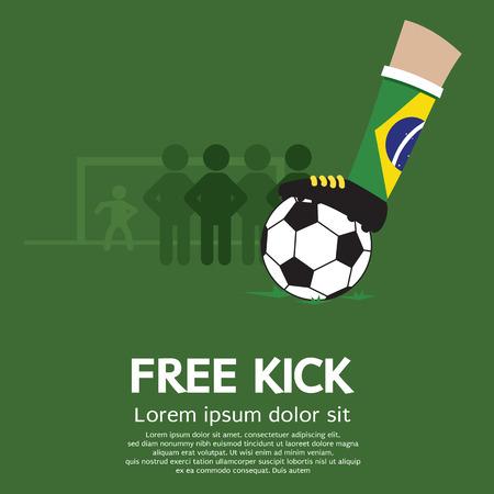 Free Kick Illustration Vetores
