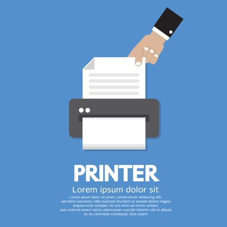 laser printer: Printer  Illustration Illustration