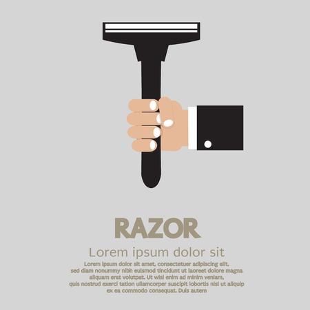 Hand Holding A Razor Stock Vector - 26451709