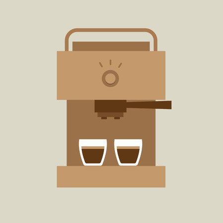 espresso machine: Coffee Maker Machine Illustration