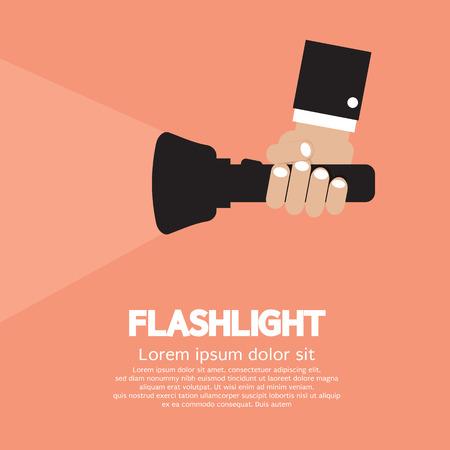 flashlight: Hand Holding A Flashlight