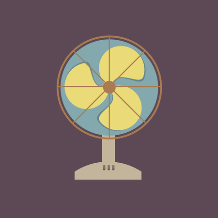 Flat Design Electric Fan  Vector