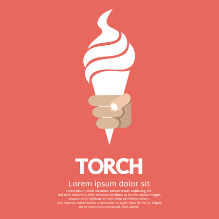 Hand Holding Torch Vector
