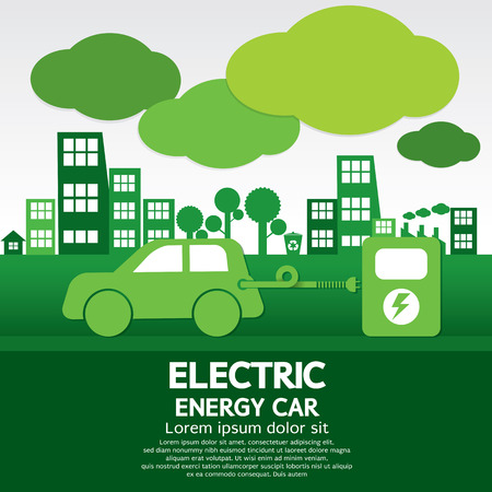 car transportation: Electric Energy Car Illustration