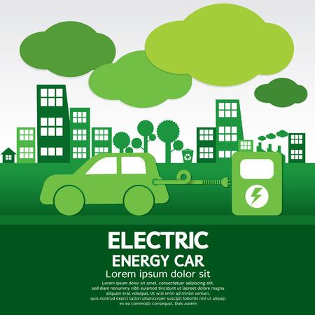 Elektrische Energie Auto Stock Illustratie
