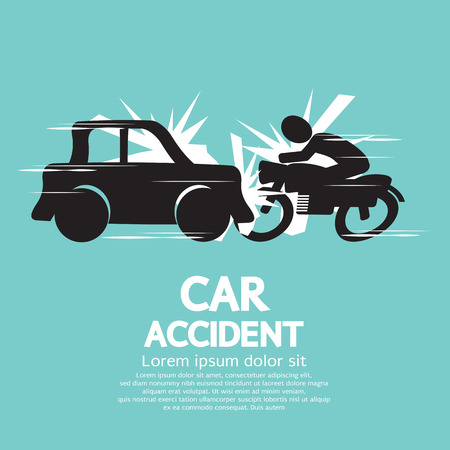 car transportation: Car Crash With Motorcycle