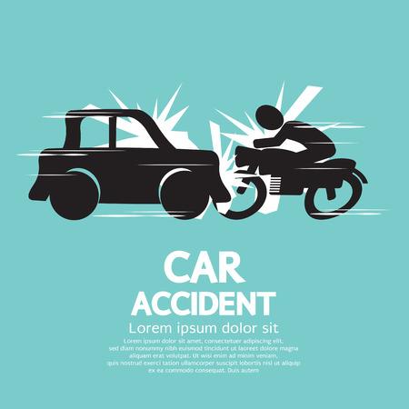 car transportation: Crash Car Con la motocicleta