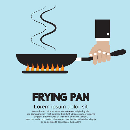 gas stove: Cooking With Frying Pan