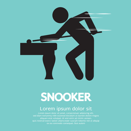 Snooker Player  Illustration