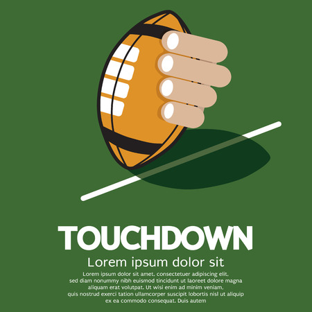 touchdown: Touch Down American Football  Illustration