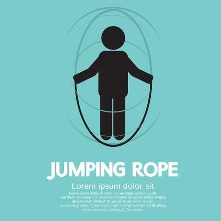 skipping: Jumping Rope  Illustration