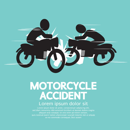 Motorcycle Accident  Illustration Vector