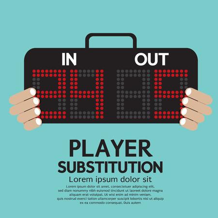 Ilustración jugador Sustitución Sport Vector
