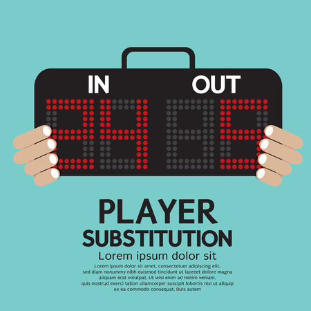 substitution: Player Substitution Sport Vector Illustration Illustration